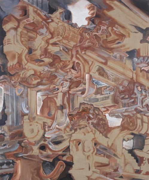 "Surf Palace, 2007-10, oil on linen, 60"" x 50"""