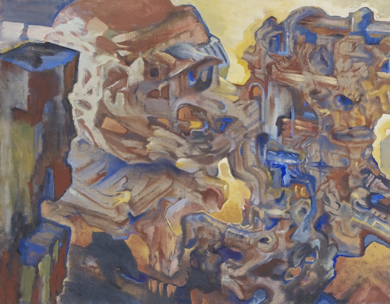 "Monument Valley, 2007-10, oil on linen, 28"" x 36"""
