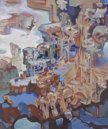 "Nod, 2008-10, oil on linen, 60"" x 50"""