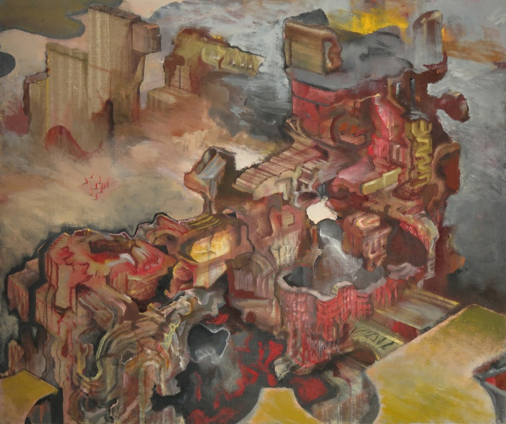 "Embarcadero, 2009-10, oil on linen, 30"" x 40"""
