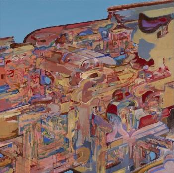 "Region 36, 1999, acrylic on canvas, 48"" x 48"""