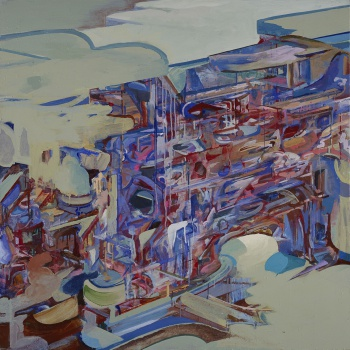 "Region 37, 1999, acrylic on canvas, 48"" x 48"""